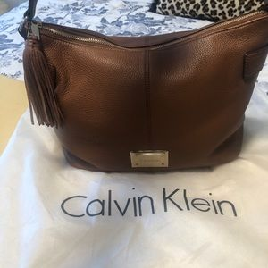 Brand new brown leather hobo bag